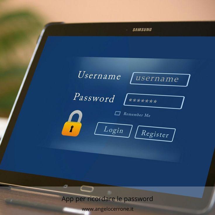 App per ricordare le password con immagini app