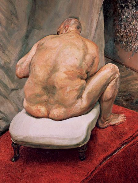 a Lucian Freud figurative painting