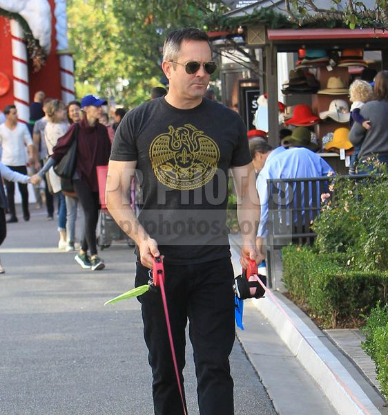Thomas Lennon Sighted Walking His Dogs in Hollywood on December 17 2017