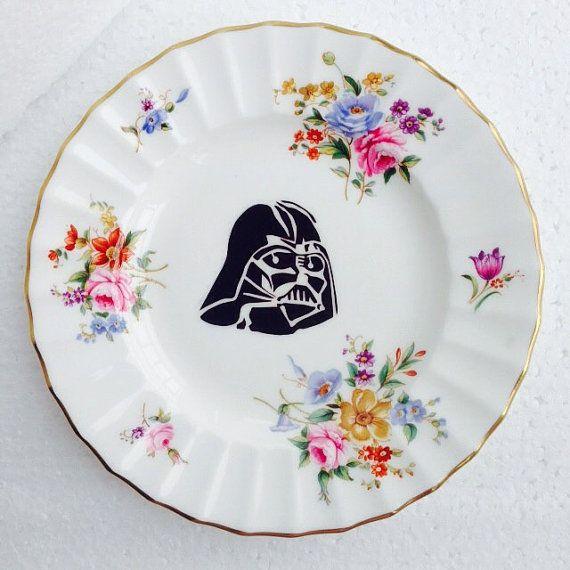 Darth Vader Star Wars Plate White bone china by LaviniasTeaParty