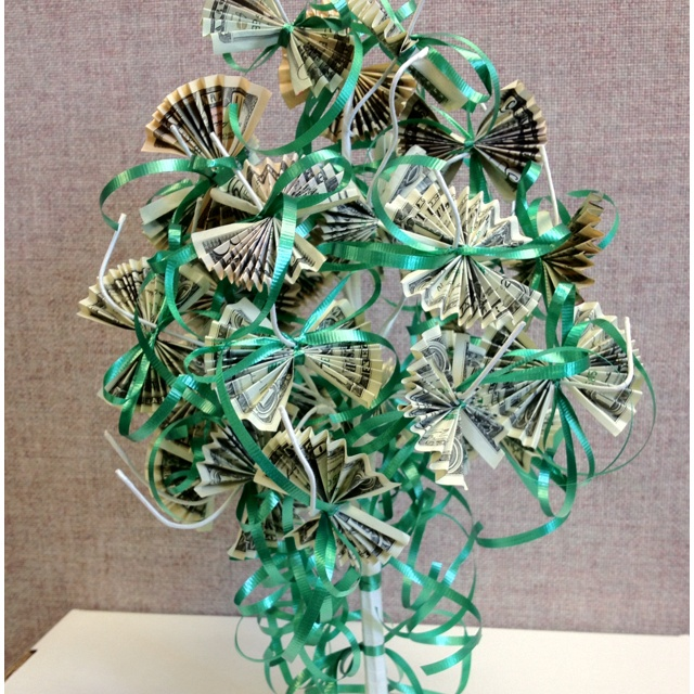 16 best do it yourself images on pinterest money trees money bridal shower money tree another version that could easily be turned into a christmas money negle Image collections
