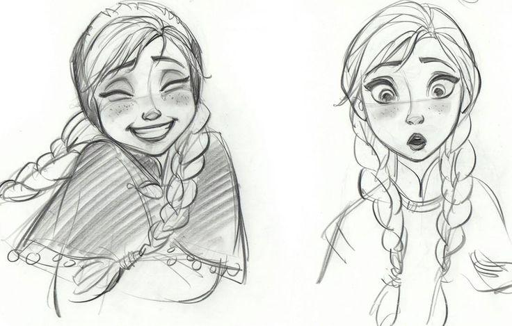 Disney Frozen Anna Sketches Details - Concept Art ✤ ||