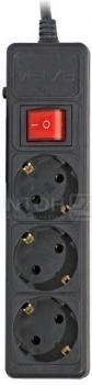 Сетевой фильтр Sven Optima Base 218, 3 розетки, 5м Черный