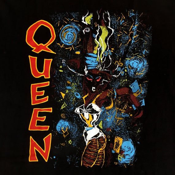 Original Vintage Queen It S A Kind Of Magic T Shirt 1986 Rare Freddie Mercury Brian May John Deacon Roger Taylor Size Large In 2020 A Kind Of Magic Freddie Mercury Hammer To Fall