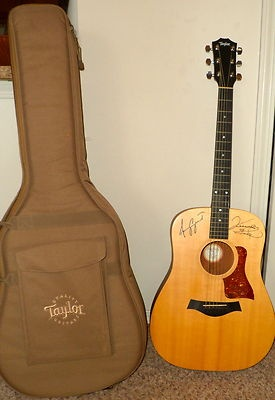 Autographed Authentic Baby Taylor Guitar For Sale: Amy Grant and Vince Gill Hand Signed + Case