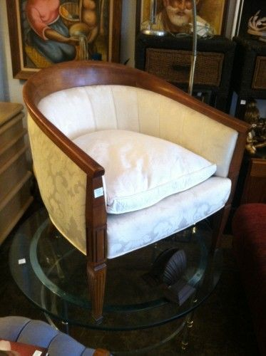 regency gentleman decor | French-Style White Club Chair | Casa Victoria LA | Seating