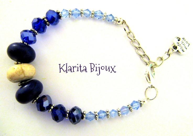 Handmade bracelet by Klarita Bijoux  http://klaritabijoux.blogspot.com/
