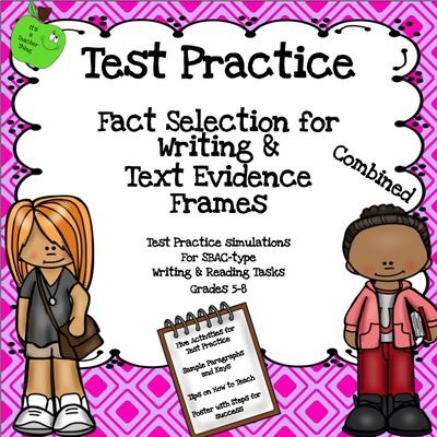 Test Practice Combined Units for SBA-Type Tests from It's a Teacher Thing on TeachersNotebook.com -  (20 pages)  - Test practice for SBAC-type testing is made easier with these two popular units bundled into one!  Text Evidence Proof Frames for side-by-side work simulates a style found in Common Core tests.