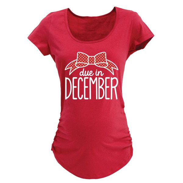 Due In December Winter Maternity Tee Design. Funny maternity shirts and maternity clothes all in the Kidteez Maternity Shop. #maternity #pregnancy