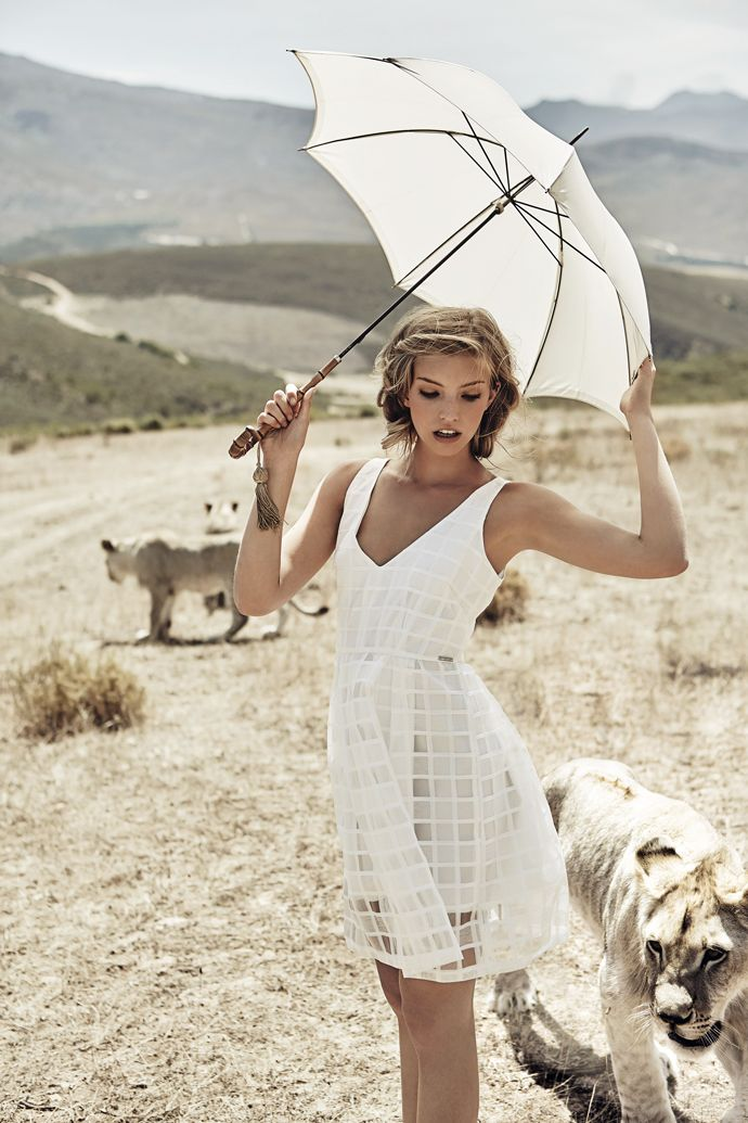 Niamh Adkins goes into the wild for Elle Russia