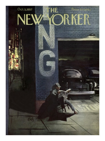 The New Yorker Cover - October 5, 1957. By Arthur Getz.
