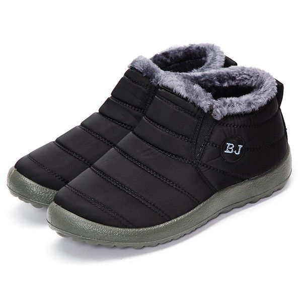 e6a4cbebe8 BJ Shoes Warm Wool Lining Flat Ankle Snow Boots For Women #Unbranded ...