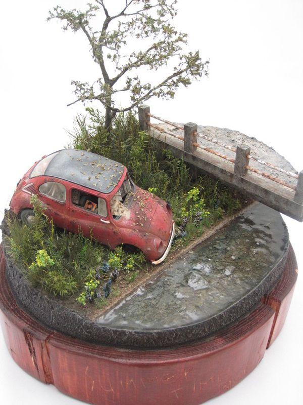 Rusted Subaru 360 1/35 Scale Model Diorama