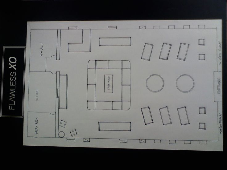 Floor Plan For My Jewelry Store!!