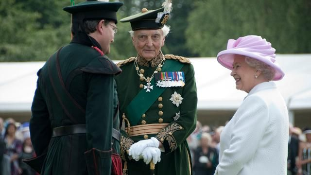 Her Majesty Queen Elizabeth II with the Duke of Airlie, KT, Recipient of the Royal Victorian Chain 2016 Photographer Shannon Tofts