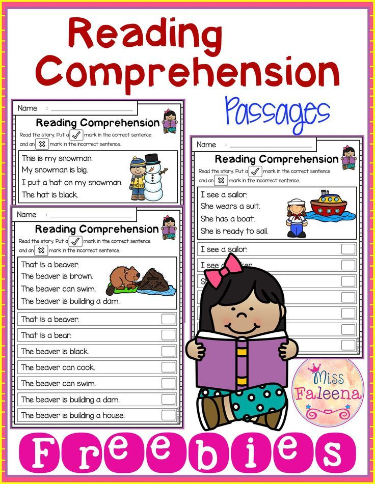 Free Reading Comprehension Passages is suitable for Kindergarten students or beginning readers. This product is helping children to sharpen reading and comprehension. Each page contains 4 sentences passage and a related picture. Children have to put a check mark in the correct sentence and an x mark in the incorrect sentence. Preschool Worksheets | Kindergarten | Kindergarten Worksheets | First Grade | First Grade Worksheets | Reading| Free Reading Comprehension passages| Free Lessons