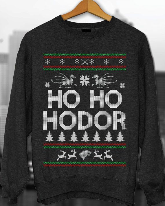 手机壳定制air classic bw collection classroom Ho ho hodor Ugly Christmas Sweater Game of Thrones by ApparelAreUs