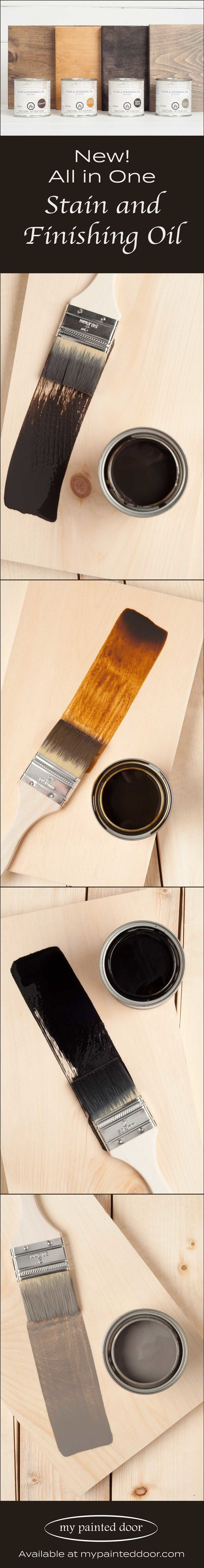 Homestead House All in One Stain and Finishing Oil is available in four colours: Cappuccino, Ebony, Driftwood and Golden Pine.