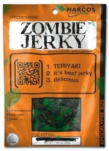 The only safe way to eat zombie corpses was to turn them into Zombie Jerky!