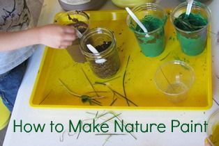 Nature paint - the kids love making potions, sure they would love this too!