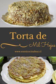 Torta de mil hojas con manjar
