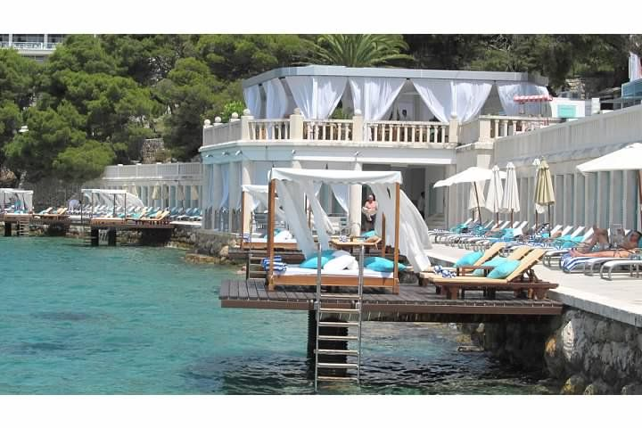 Gorgeous Bonj les bains beach club in Hvar, Croatia