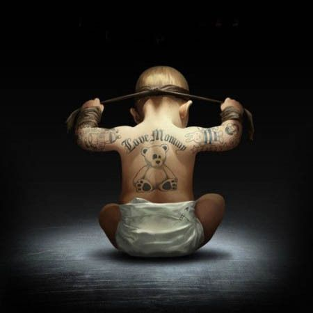 #Action Baby Boy Tattoo Trend