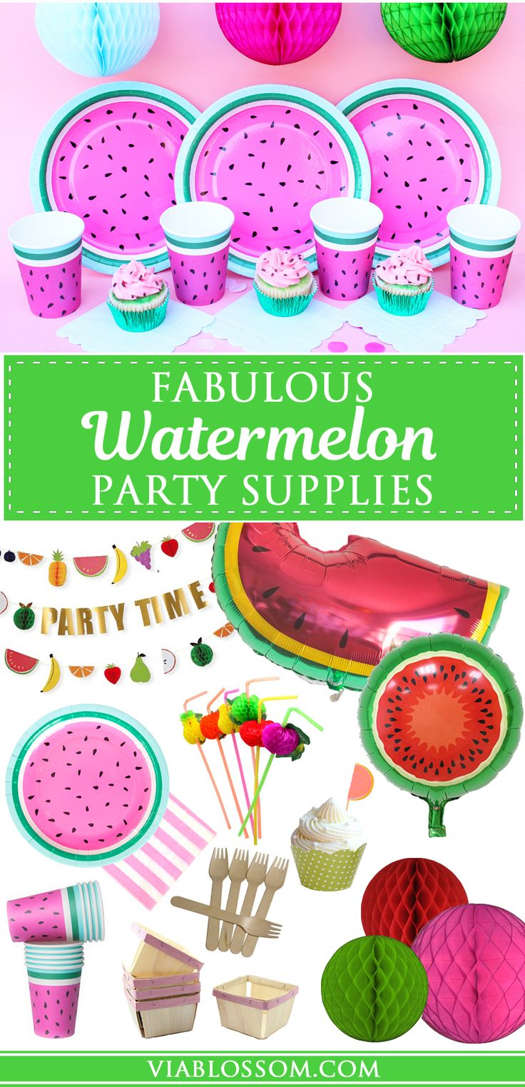Must-Have Watermelon Party decorations for your Summer Parties or for a Tutti Frutti Party!