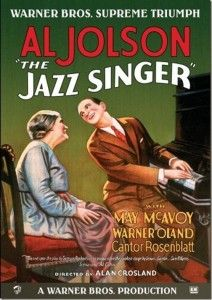 The Jazz Singer (1927) with Al Jolson - http://www.classicfilmfreak.com/2013/01/09/the-jazz-singer-1927-with-al-jolson/