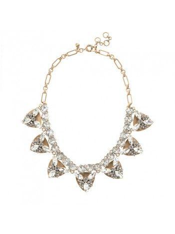 J Crew Jeweled Triangle Necklace $65