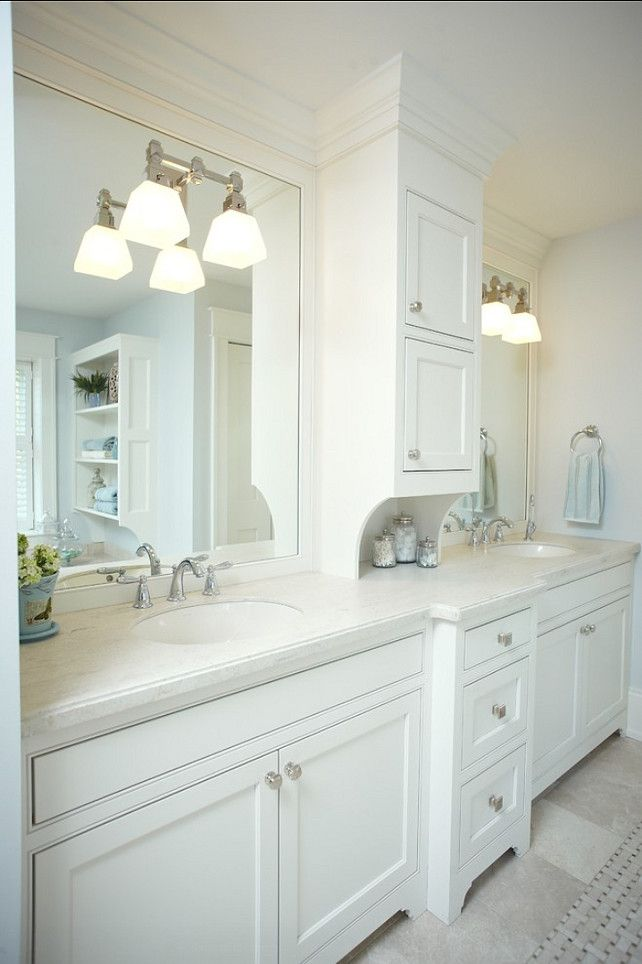 25+ best White bathroom cabinets ideas on Pinterest | Master bath ...