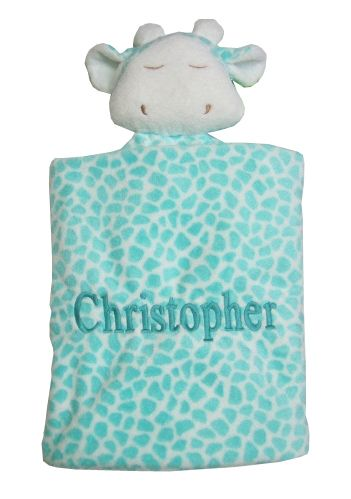 65 best personalized security blankets images on pinterest babys personalized baby gift soft and cuddly angel dear blue giraffe blankee is an easy to carry negle Gallery