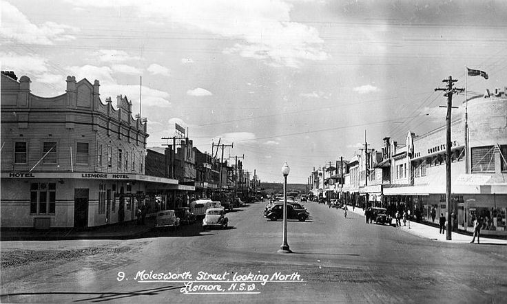 Molesworth St,looking north,Lismore,in northern New South Wales.A♥W