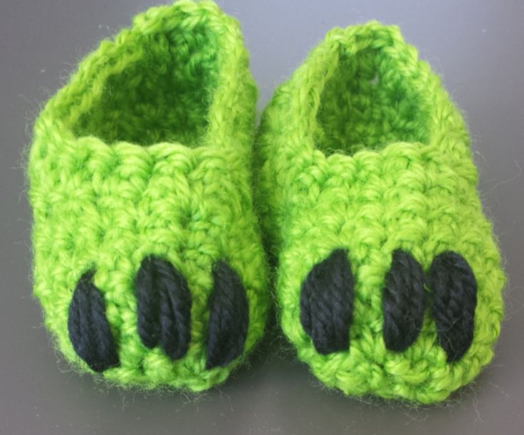 Baby Monster Feet Booties 3 - 12months old by CrochetbySparkle on Etsy, $15.00