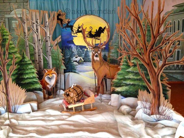 Картинки детские зима для оформления стен
