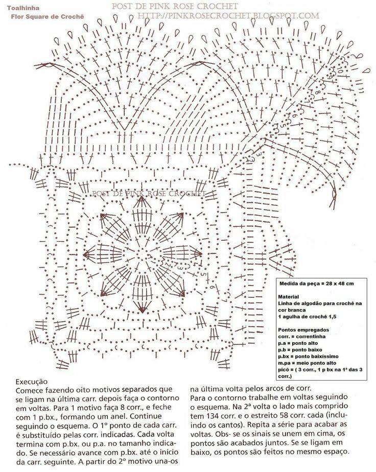 Toalhinha+Flor+Square+Croche+.GR.+PRose+Crochet.JPG (1274×1600)