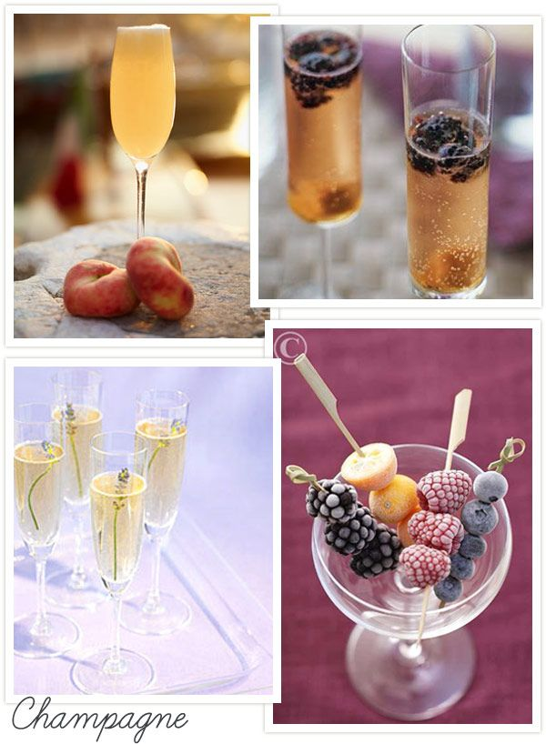 Wedding cocktails wedding cocktail ideas wedding for Champagne drinks with fruit