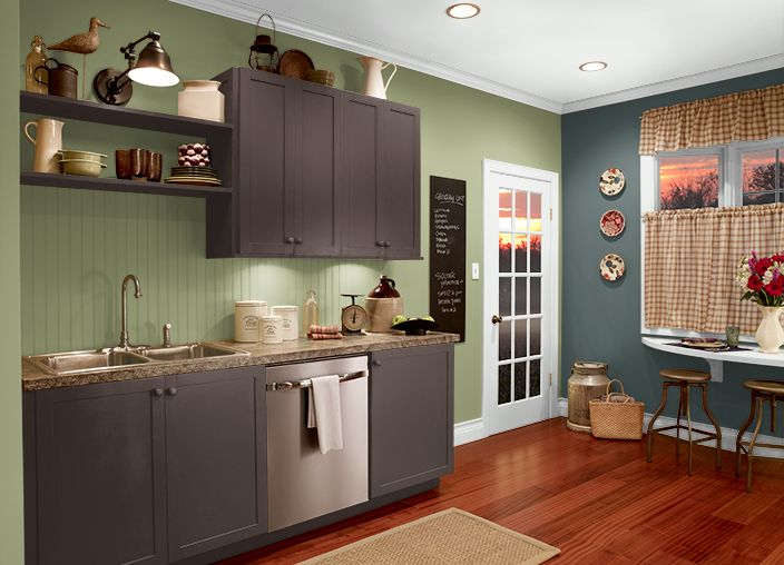 This is the project i created on i used these colors brooklyn n440 6 double espresso - Behr kitchen paint colors ...