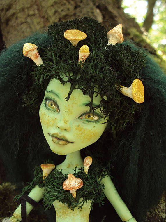 Monster High Repaint custom OOAK Woodland Fairy Mushroomfairy