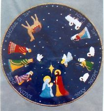 Vintage Titan Felt Sequins Christmas Tree Skirt Kit  NATIVITY MAGI  35