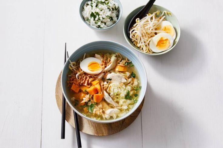 Maak de soep naar smaak af met ingrediënten die jij het lekkerst vindt.- Recept - Allerhande