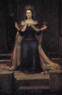 Queen Jadwiga of Poland - married Jagiello, Duke of Lithuania, in 1386. Lithuanians were the last Europeans to convert to Christianity with this marriage.