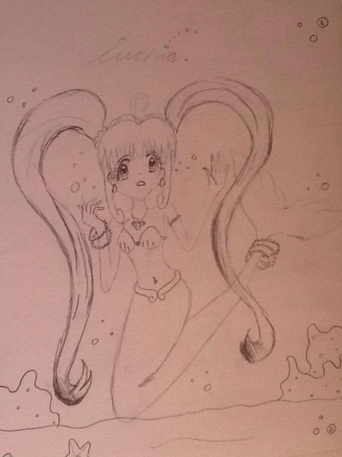 Luchia on of the main antagonists off mermaid melody trapped in a tank.