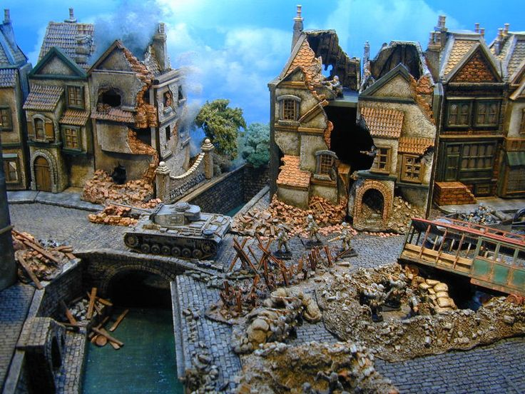 Ww2 miniature buildings wargaming miniatures for Miniature architecture