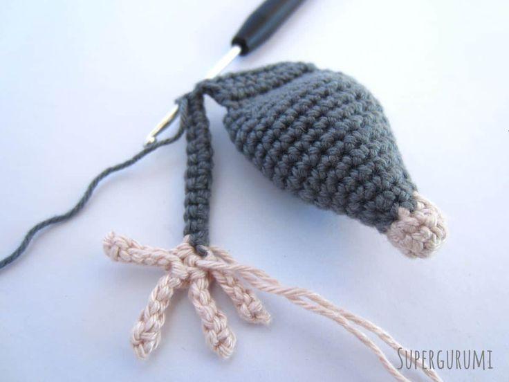 Crochet Rat Front Leg