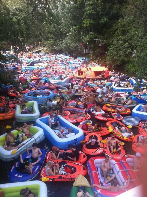 Just the annual beer floating event near Helsinki, Finland