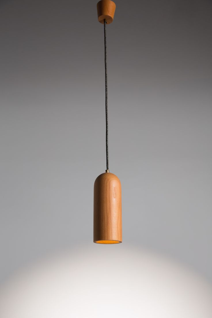 Bicycle. Hand made pendant lamp from wood