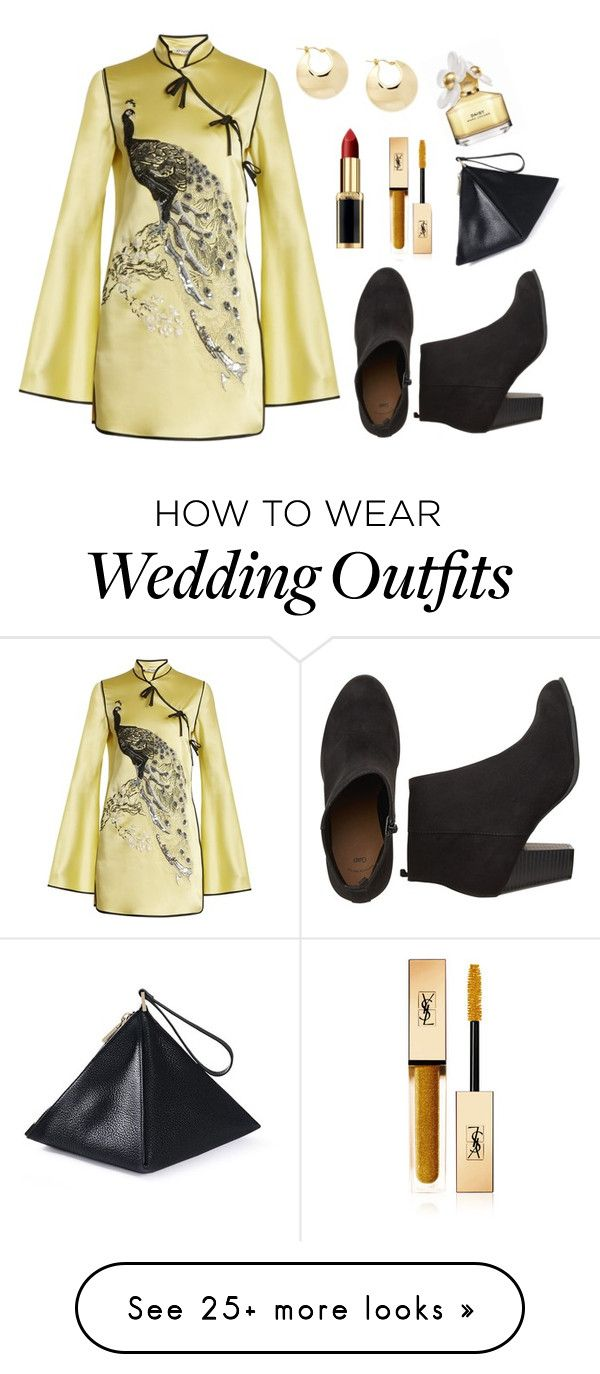 """Orient Gold"" by minhodibidibidis on Polyvore featuring Attico and Yves Saint Laurent"