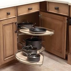 """Hafele """"LeMans"""" Kitchen Blind Corner Organizer for Cabinet with Top Drawer"""