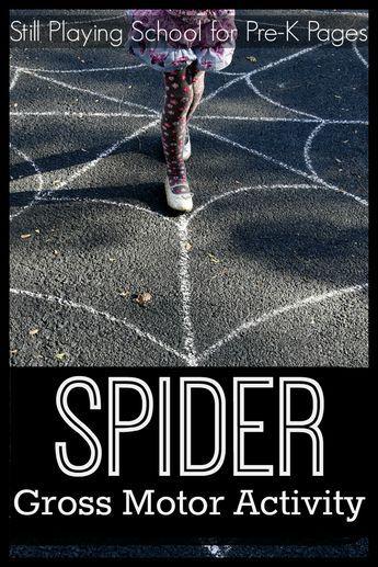 Spider Web Gross Motor Activity. A fun way to develop gross motor skills in preschool and kindergarten